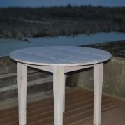 "Nantucket Driftwood 40"" Round Farm Table"