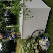French Country in Cottage White Beverage Cart